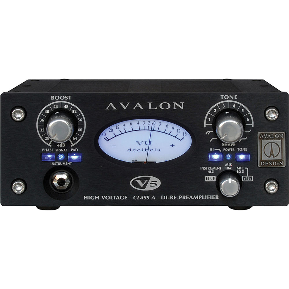 Avalon Design V5 Pure Class A Microphone Preamplifier B Bh Based Tlc251 Black