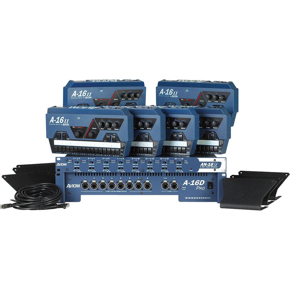 Aviom Mix6 Six Mix Personal Mixing System Mix6 B Amp H Photo Video