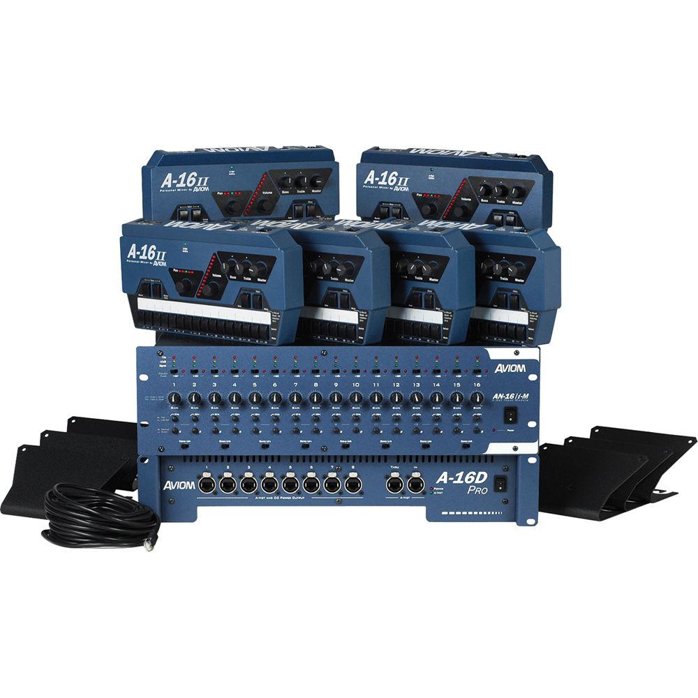 Aviom Mixsp Stand Alone Personal Mixing System Mixsp B Amp H Photo