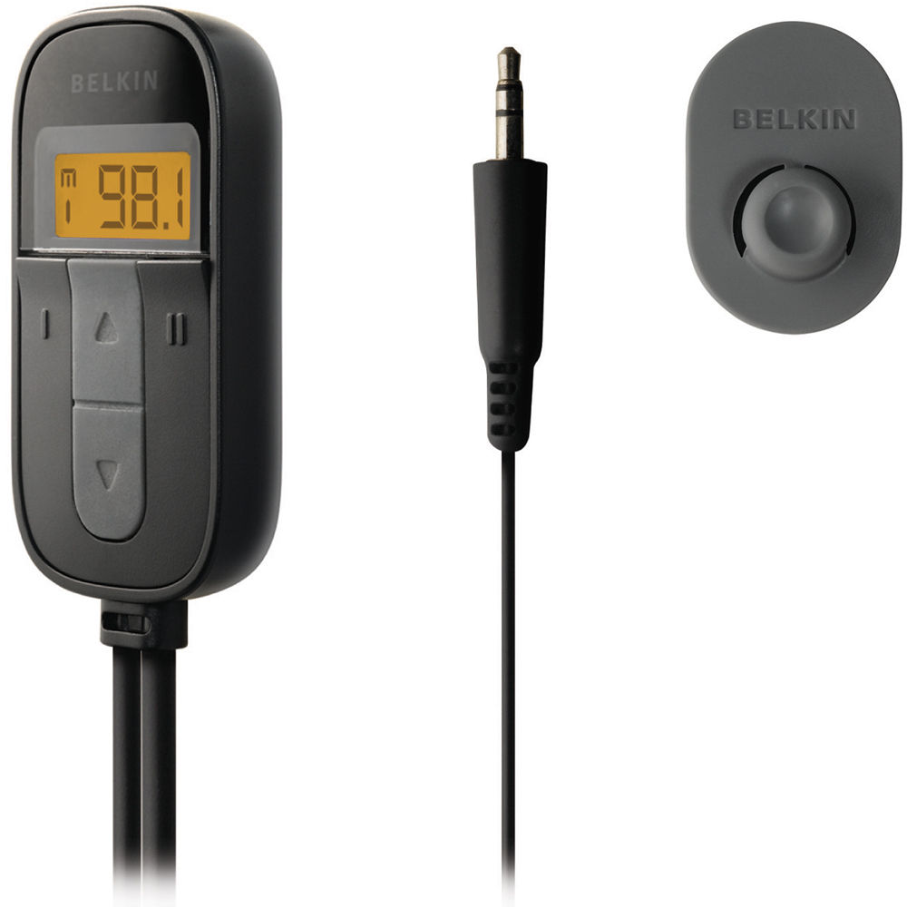 belkin tunecast auto universal fm transmitter f8m066 b h photo. Black Bedroom Furniture Sets. Home Design Ideas