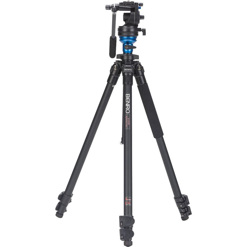 Benro A1573FS2 S2 Video Head and AL Flip Lock Legs Kit ...