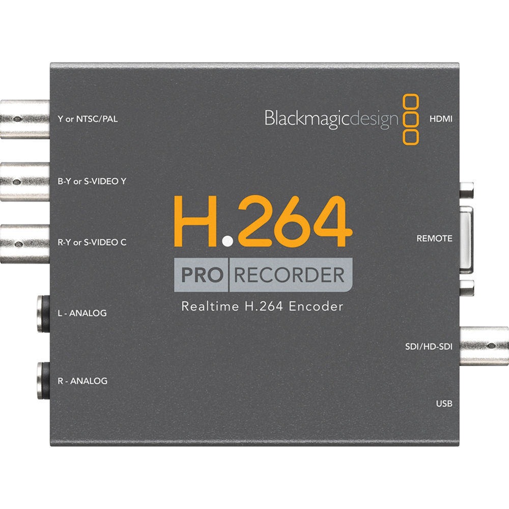 Blackmagic Design H 264 Pro Recorder Vidprorec B H Photo Video