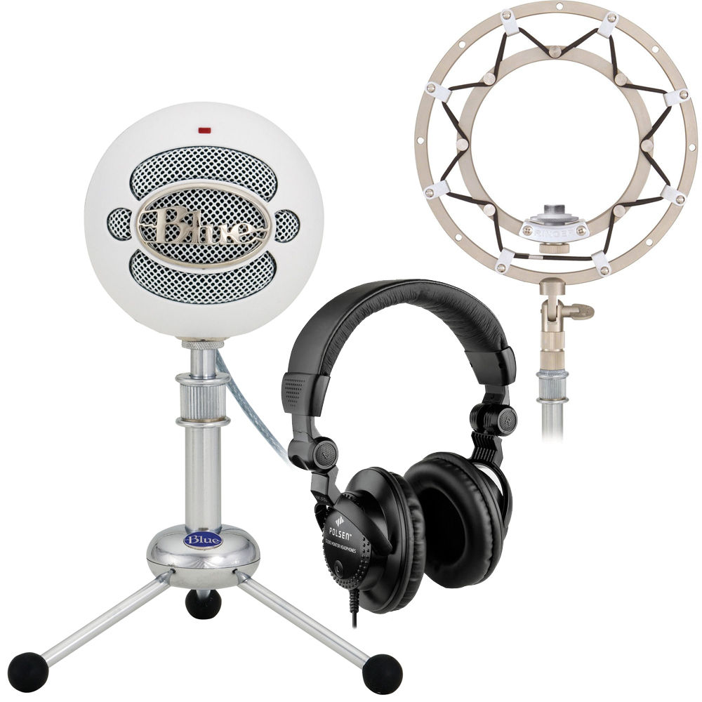 blue snowball usb condenser microphone with accessory pack and. Black Bedroom Furniture Sets. Home Design Ideas