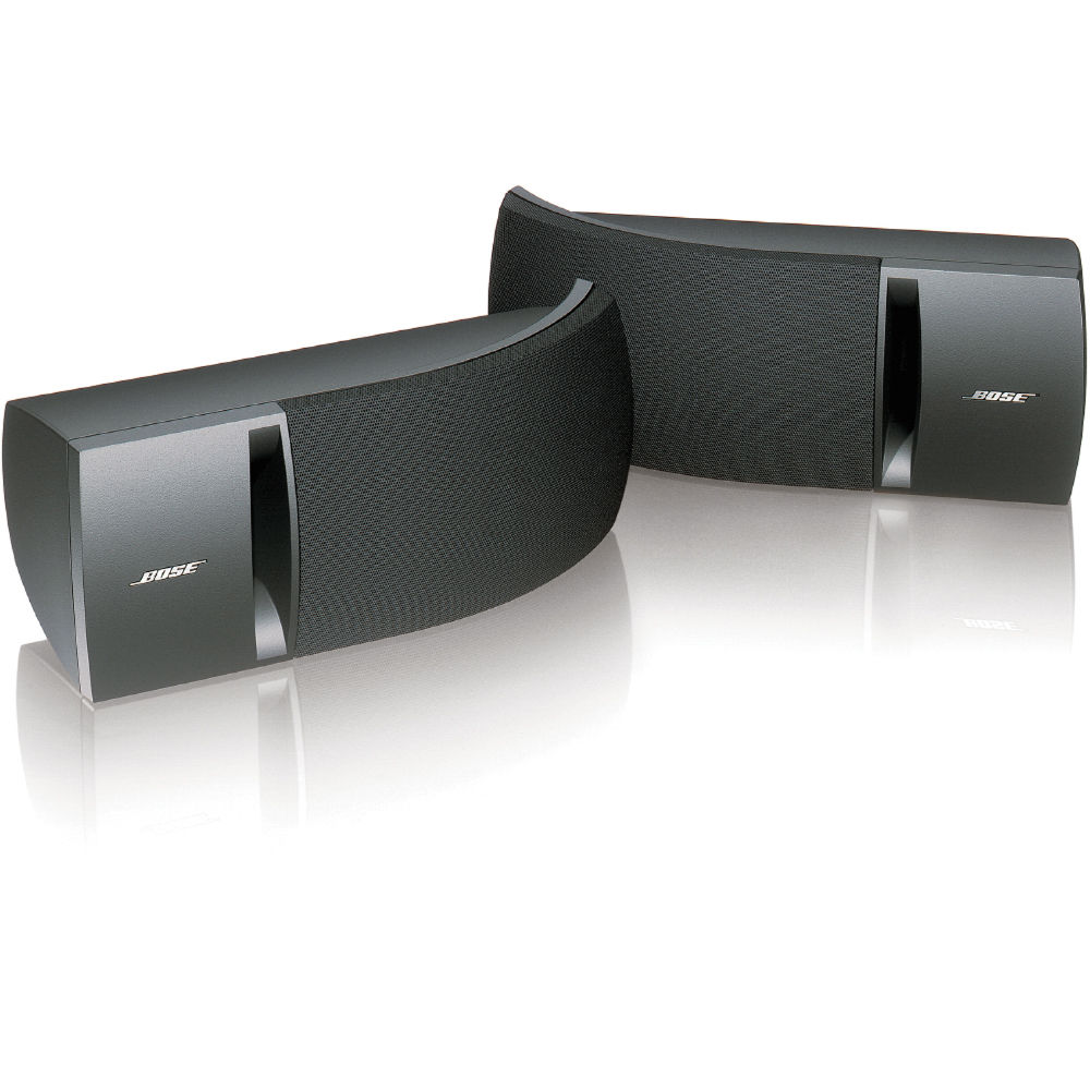 Bose 161 Full Range Bookshelf Speakers Black Pair 27027 B Amp H