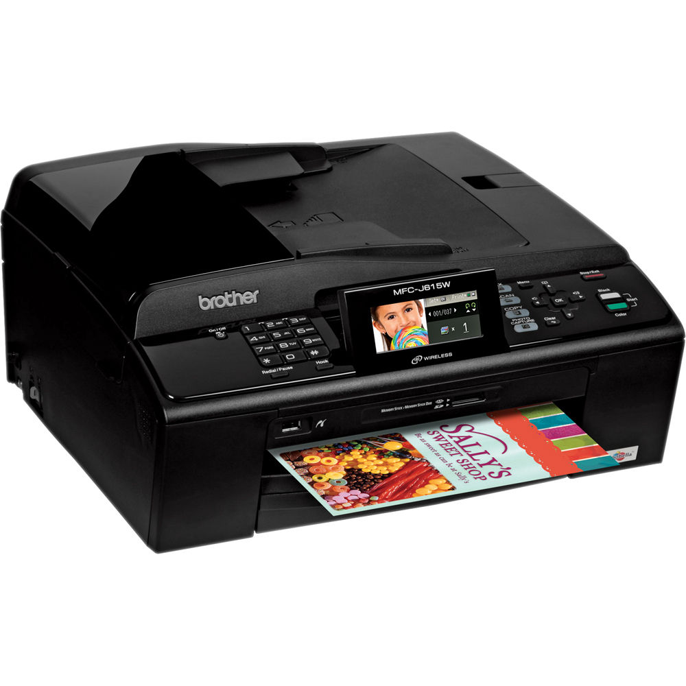 brother mfc j615w compact inkjet all in one wireless mfc j615w rh bhphotovideo com Brother MFC Fax Machine Manual Brother Printers
