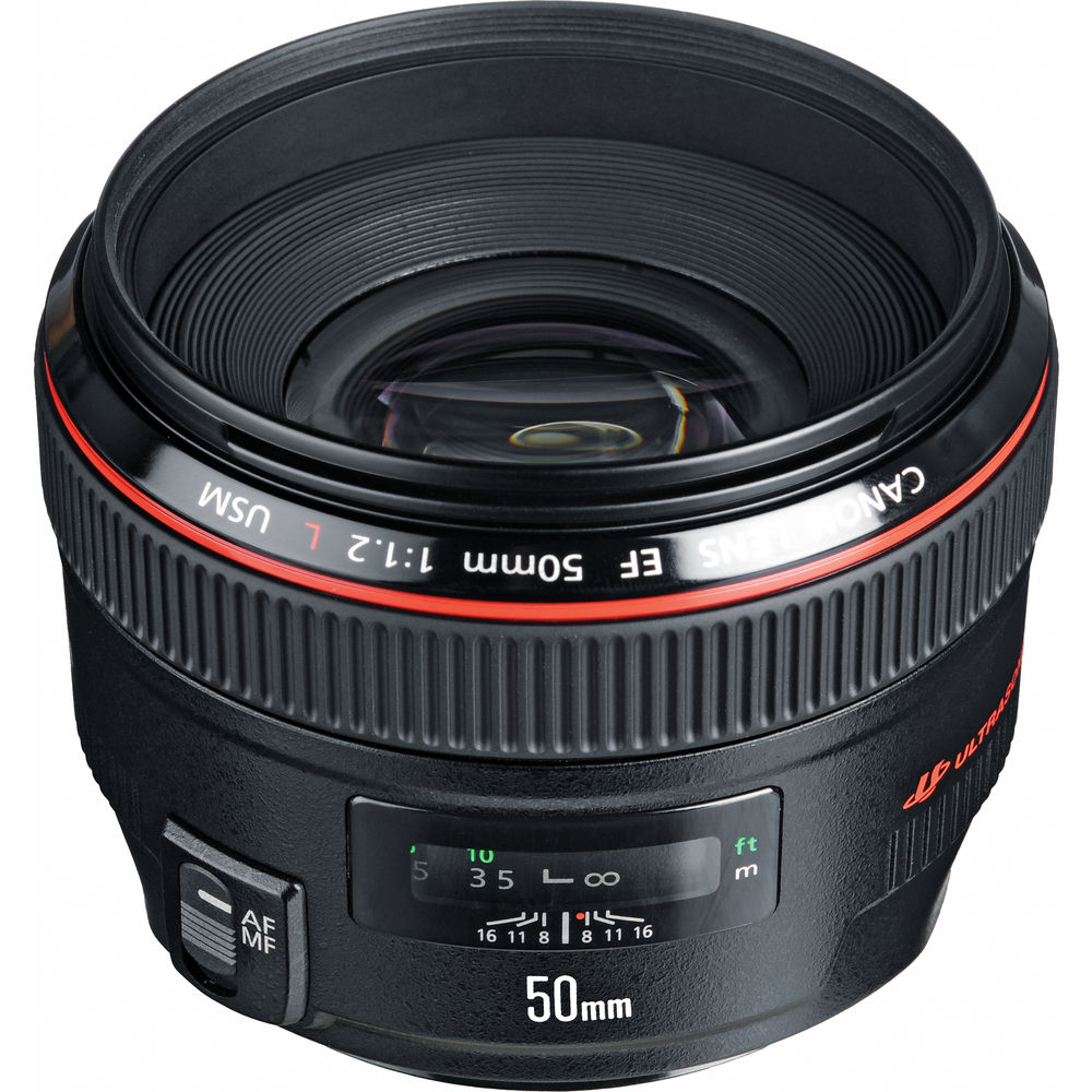 Canon EF 50mm f/1.2L USM Lens 1257B002 B&H Photo Video