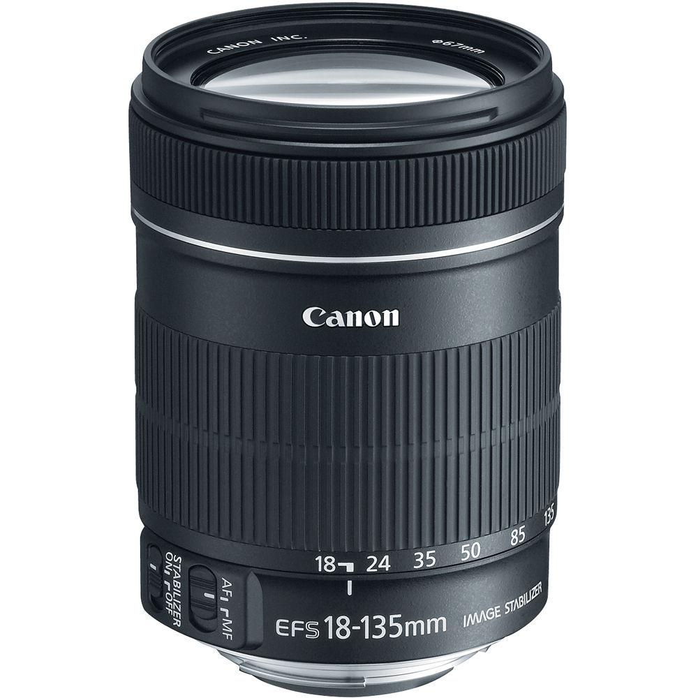 canon ef s 18 135mm f 3 5 5 6 is lens white box 3558b002 b h. Black Bedroom Furniture Sets. Home Design Ideas