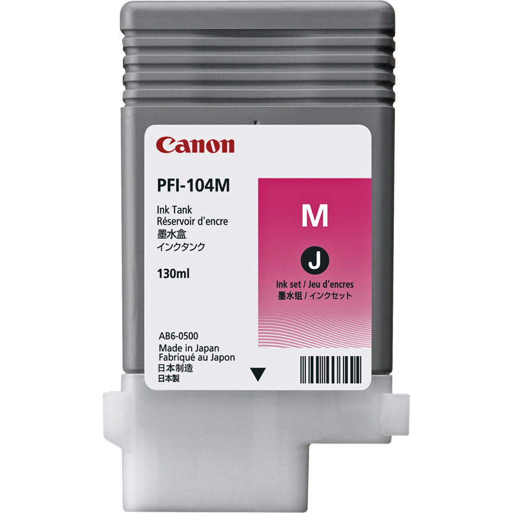 Canon PFI 104M Photo Magenta Ink Tank 130 Ml 3631B001AA BampH