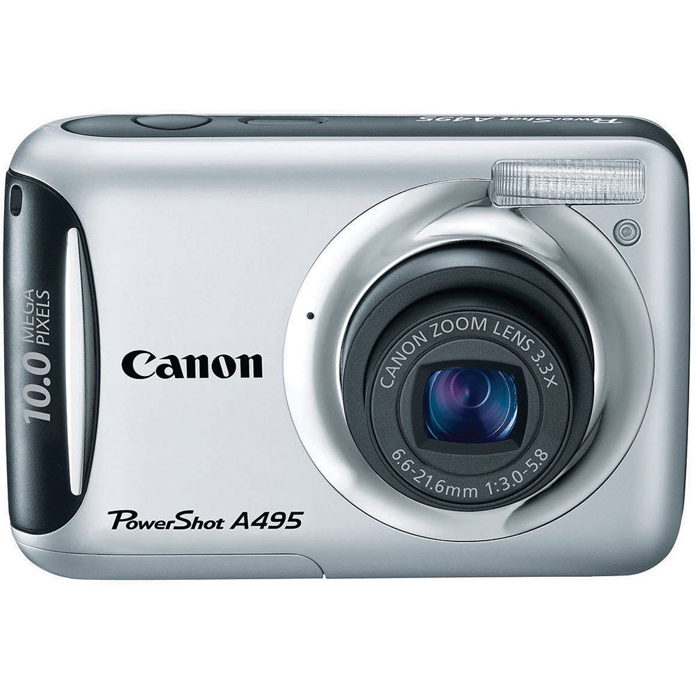 canon powershot a495 digital camera silver 4259b001 b h photo rh bhphotovideo com Canon PowerShot Digital Camera Software Best PowerShot Camera