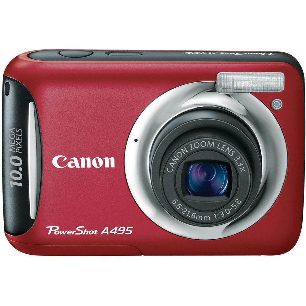 canon powershot a495 digital camera red 4261b001 b h photo rh bhphotovideo com Blue Canon PowerShot A495 Digital Canon PowerShot A495