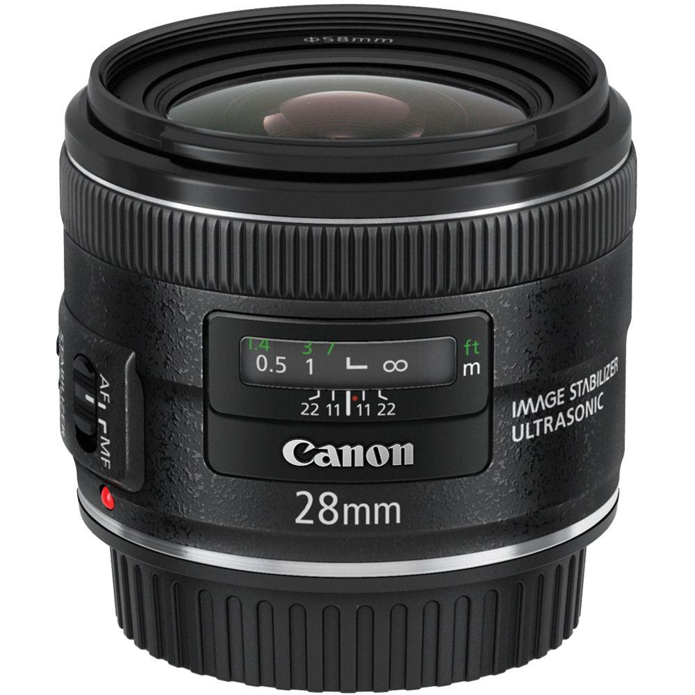 b38e2583b253c Canon EF 28mm f 2.8 IS USM Lens 5179B002 B H Photo Video