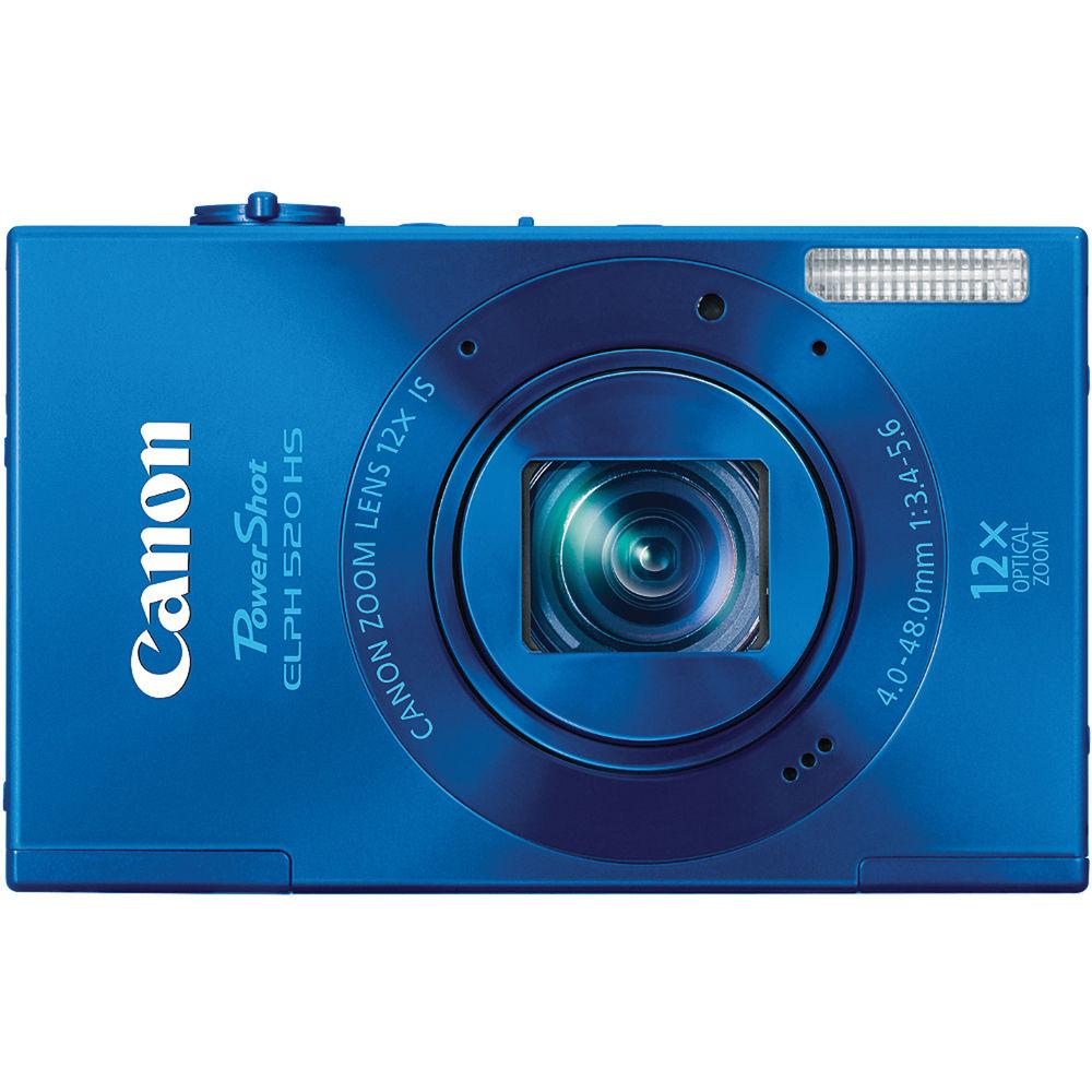 canon powershot elph 520 hs digital camera blue 6174b001 b h rh bhphotovideo com Canon PowerShot ELPH 110 HS canon powershot elph 520 hs specifications