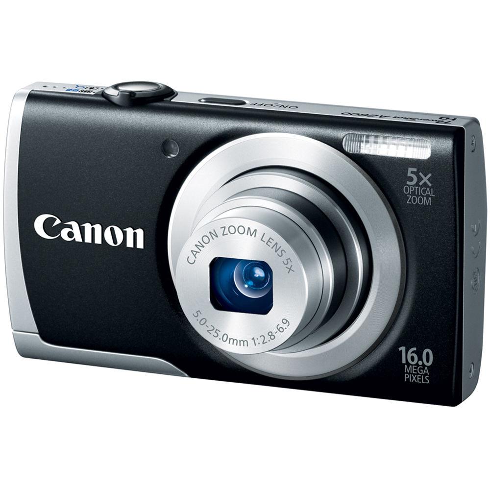 Canon PowerShot A2600 Digital Camera (Black) 8157B001 B&H ...
