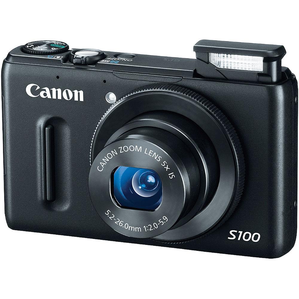 Canon PowerShot S100 Digital Camera (Black)