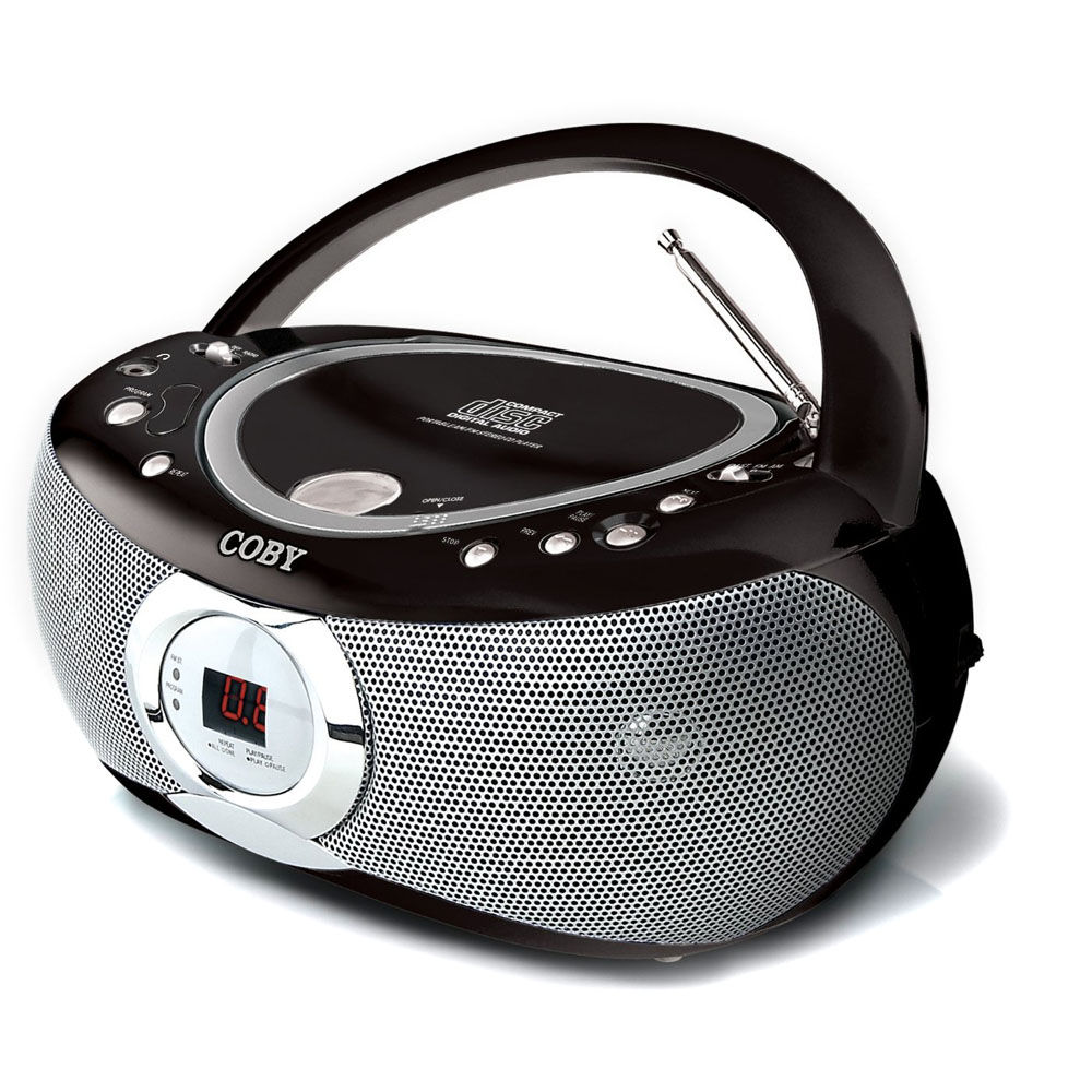 coby cxcd230 portable cd player with am fm stereo tuner cxcd230. Black Bedroom Furniture Sets. Home Design Ideas