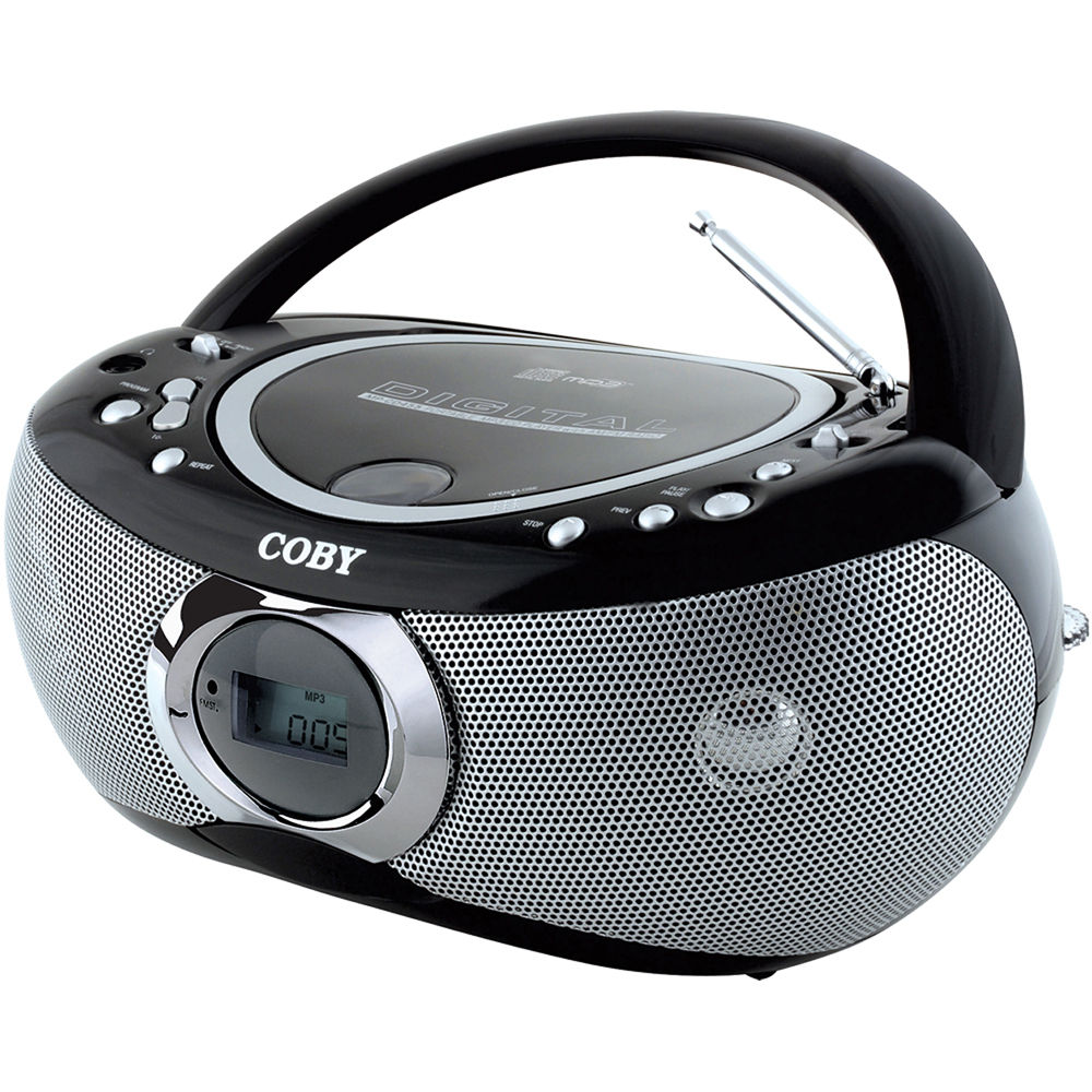 coby mp cd455 portable mp3 cd player with am fm radio mpcd455. Black Bedroom Furniture Sets. Home Design Ideas