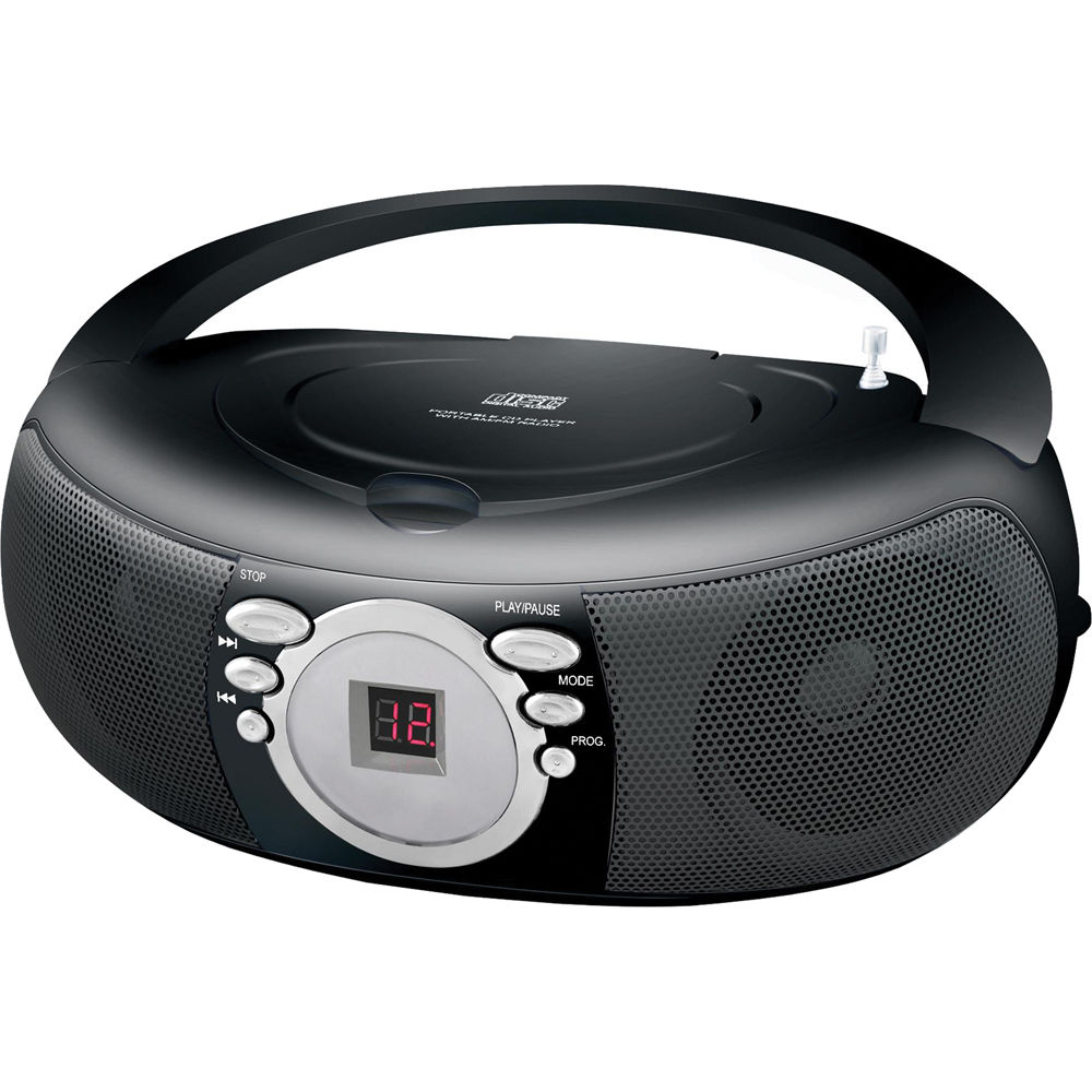 coby mpcd285 portable mp3 cd player with am fm stereo mpcd285. Black Bedroom Furniture Sets. Home Design Ideas