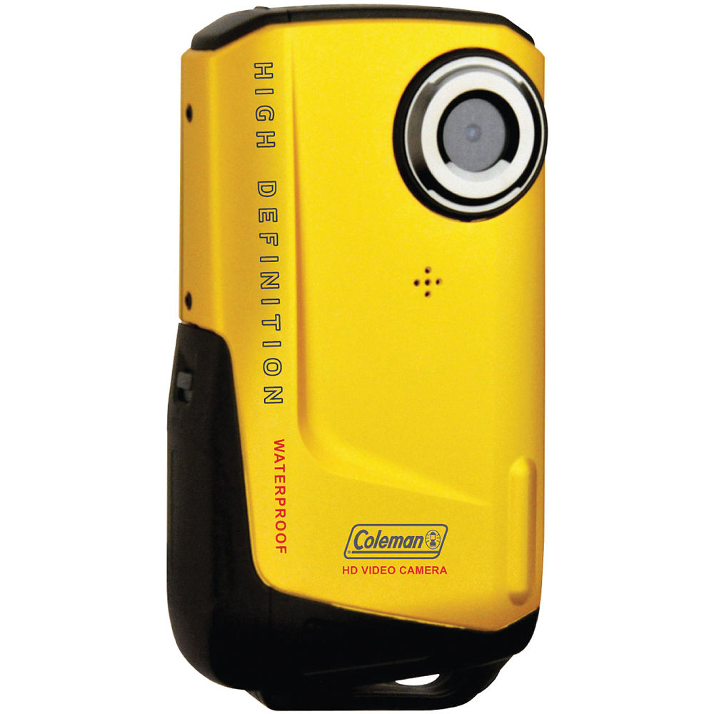 Coleman Waterproof HD Pocket Video Camera (Yellow) CVW9HD-Y B&H