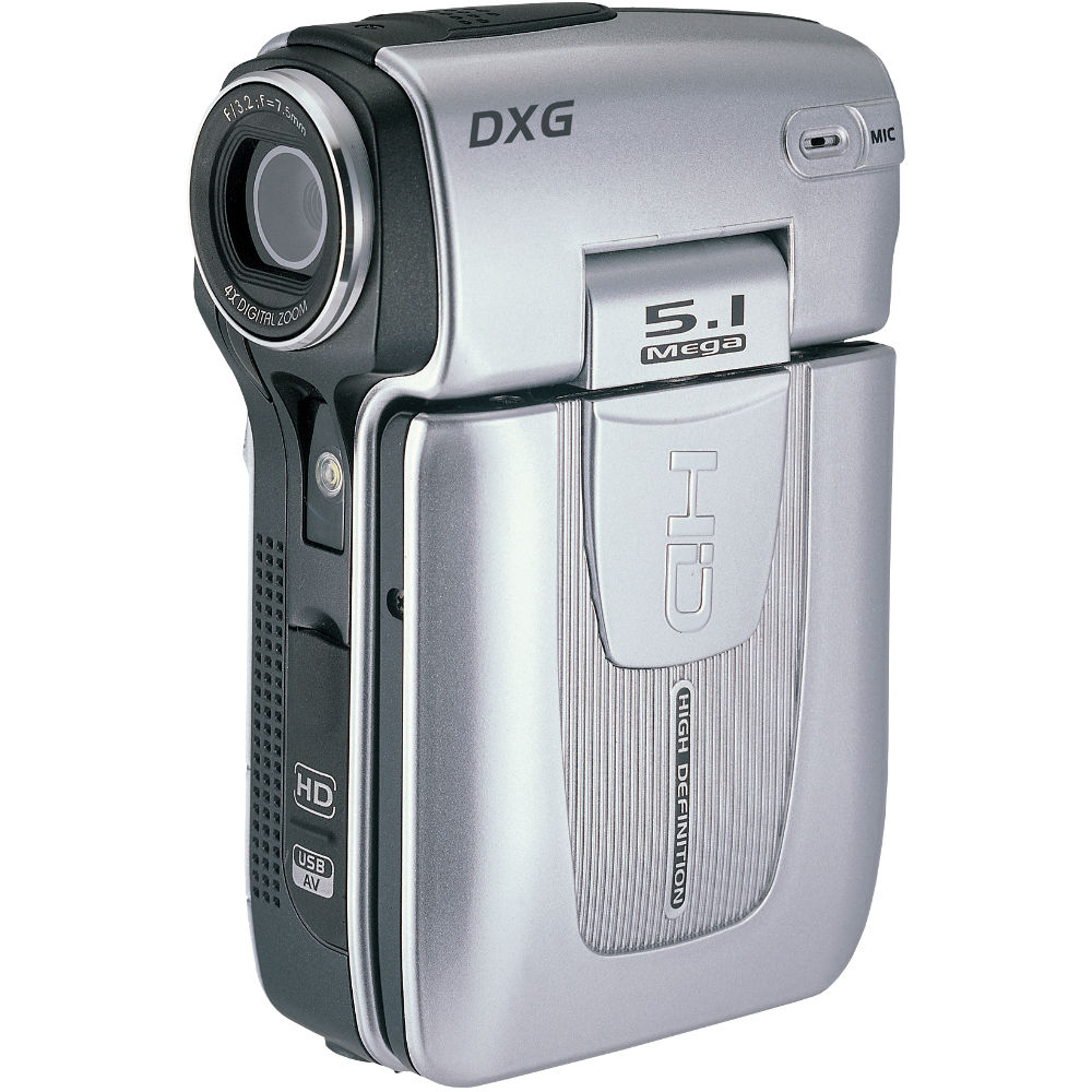 DXG DXG-579V High Definition Camcorder (Silver)