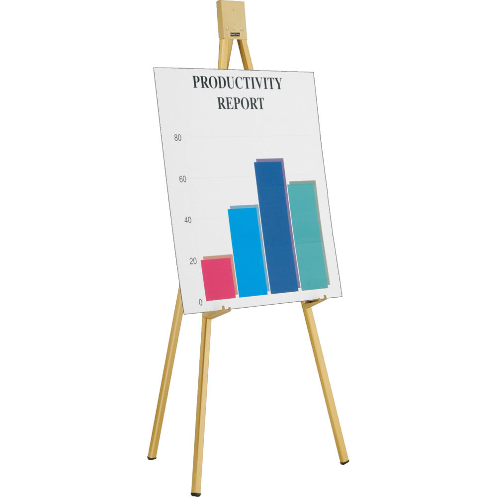 dalite h323heavy duty gold anodized display easels - Display Easel