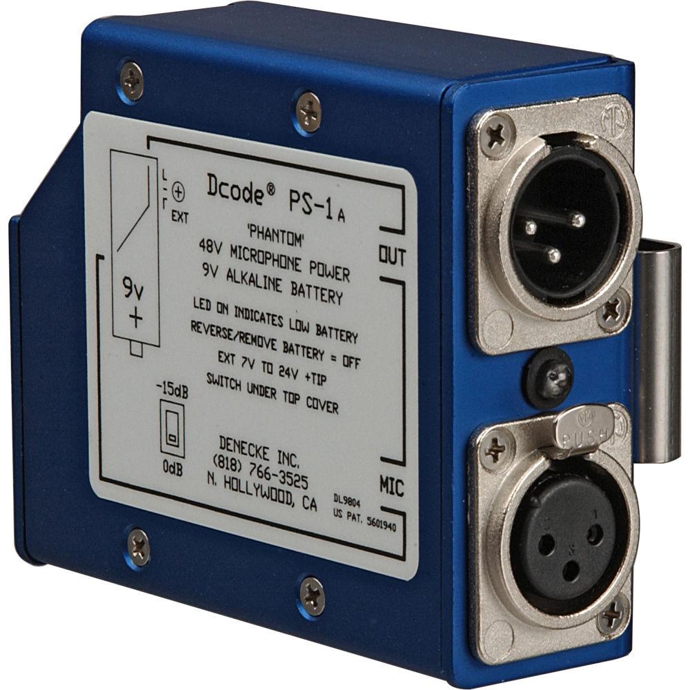 Denecke Ps 1a Portable Single Channel 48v Phantom Supply