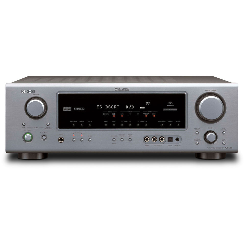 denon avr 786 a v receiver silver avr786s b h photo video denon avr 786 a v receiver silver