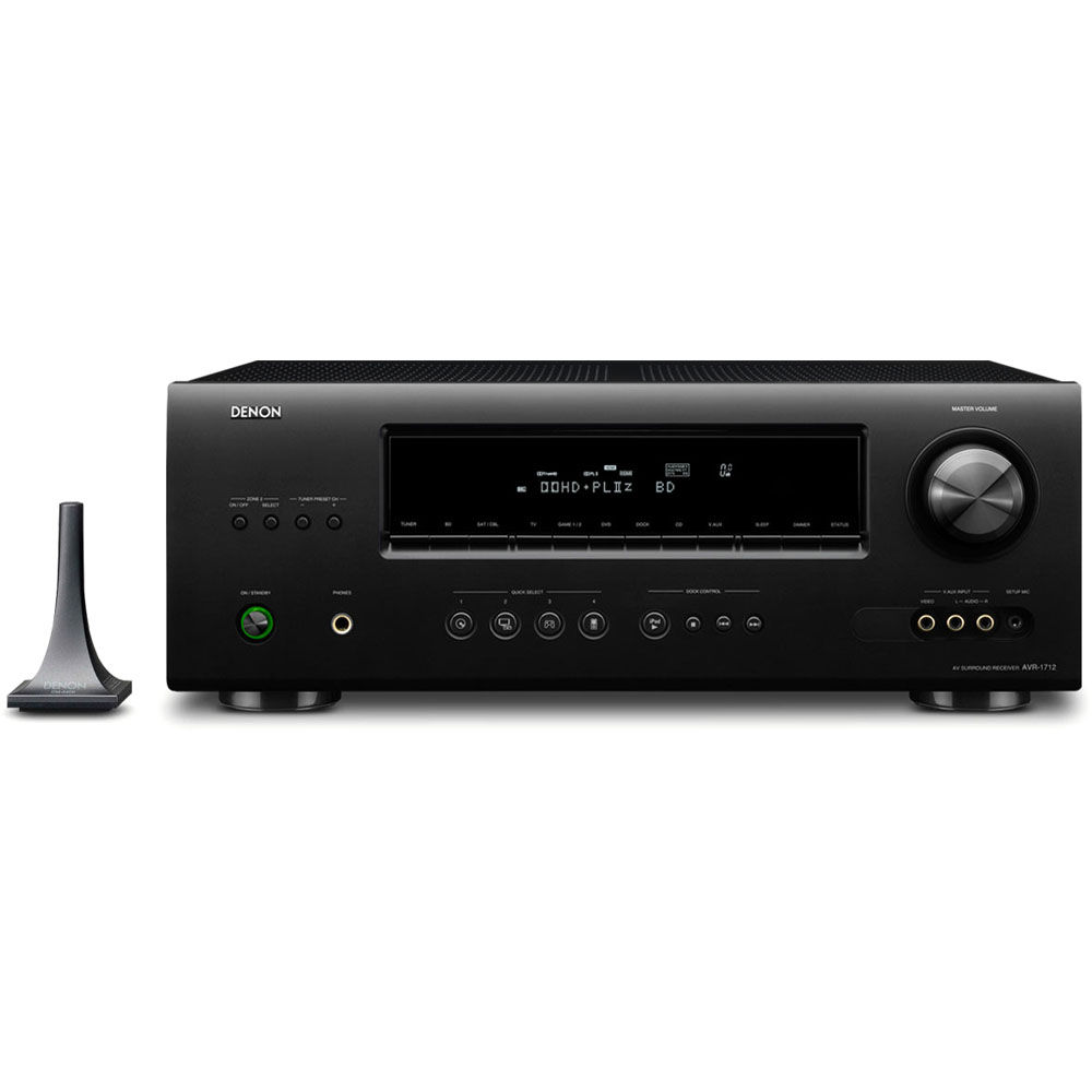 Denon AVR-1712 7.1-Channel AV Surround Receiver. iPod, iPad, or iPhone not  included