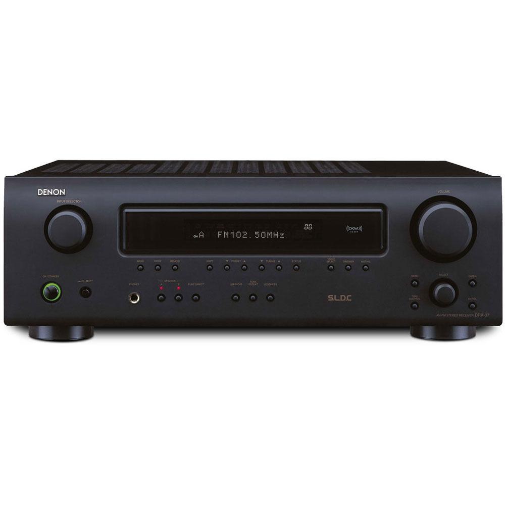 Denon dra 37 am fm stereo receiver dra 37 b h photo video for What to dra