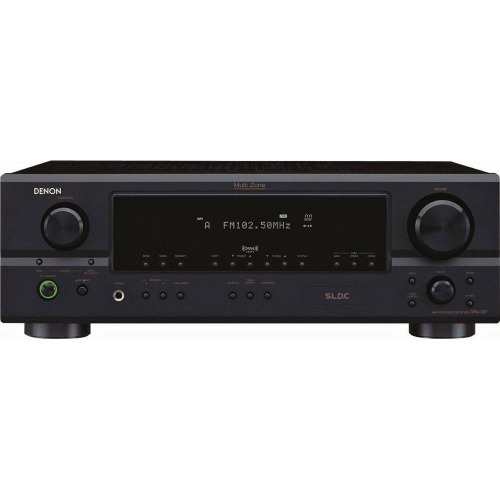 Denon dra 397 am fm stereo receiver dra 397 b h photo video for What to dra