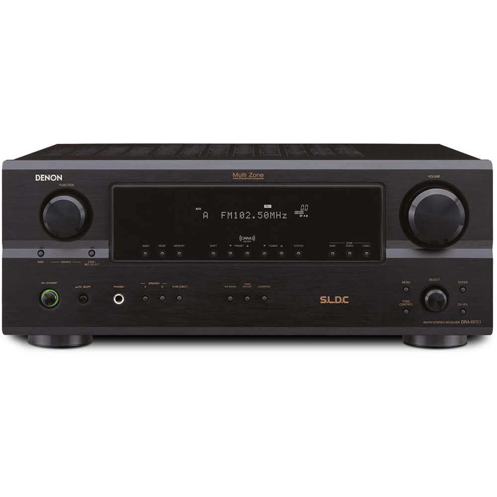 Denon dra 697cihd stereo receiver dra 697cihd b h photo video for What to dra