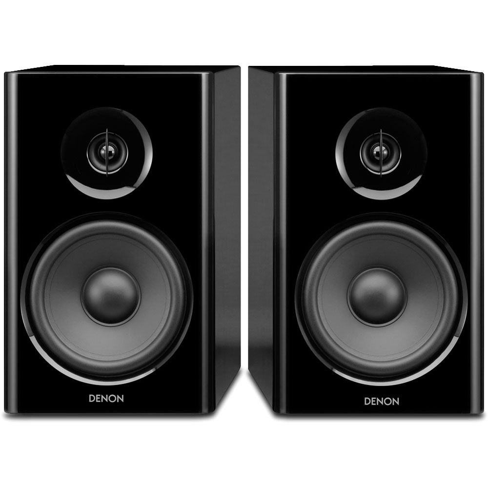 Denon SC N7 2 Way Bookshelf Speaker System Black Pair