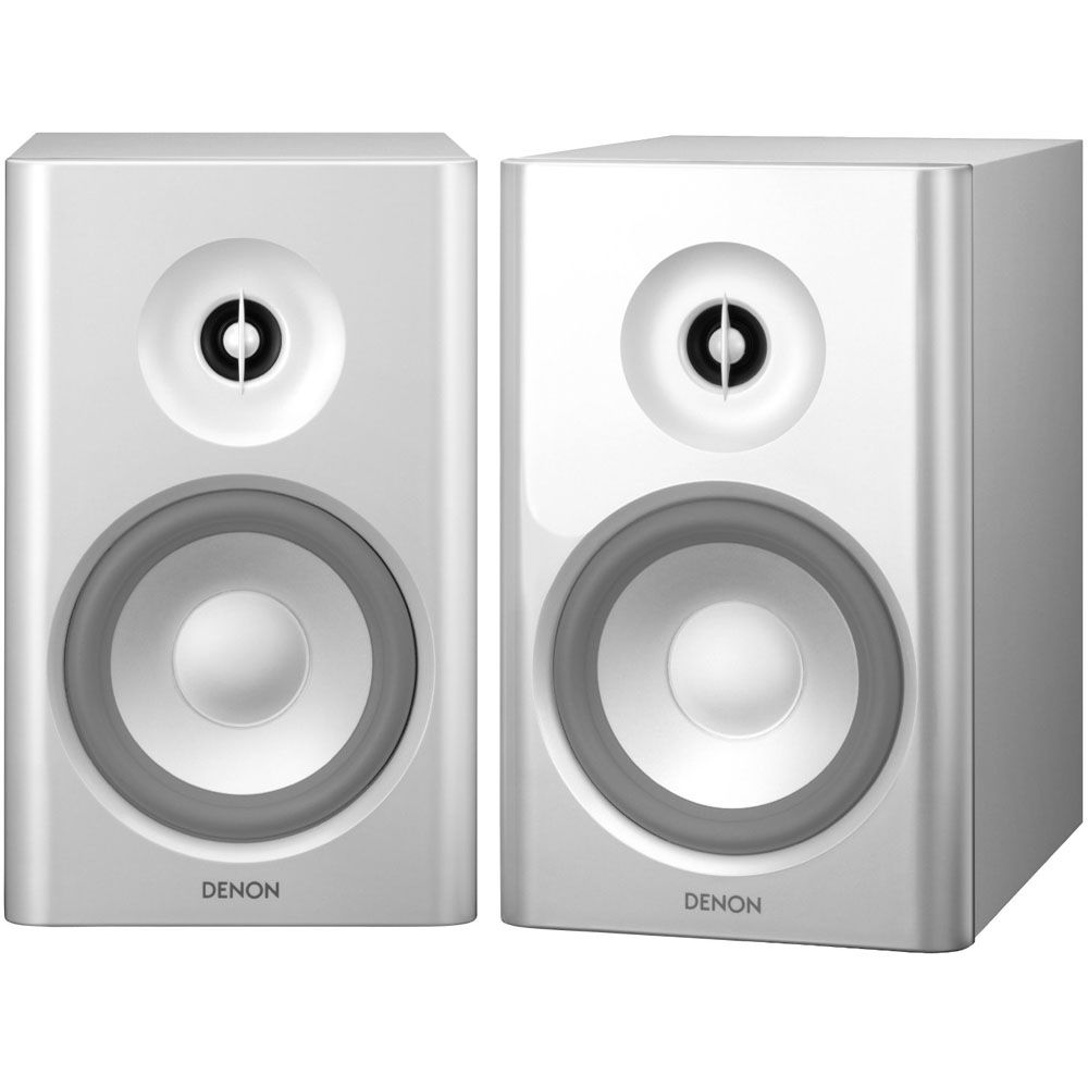Denon SC N7 2 Way Bookshelf Speakers White