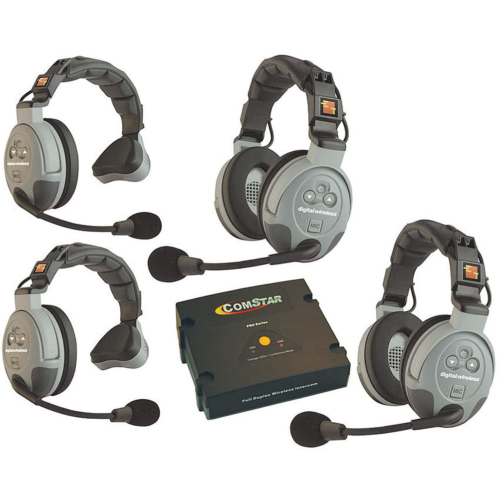 Eartec Comstar Xt 4 4 User Full Duplex Wireless Intercom Xt 4