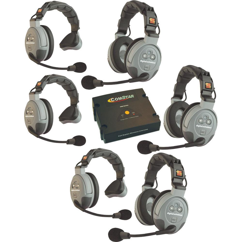 Eartec Comstar Xt 6 6 User Full Duplex Wireless Intercom