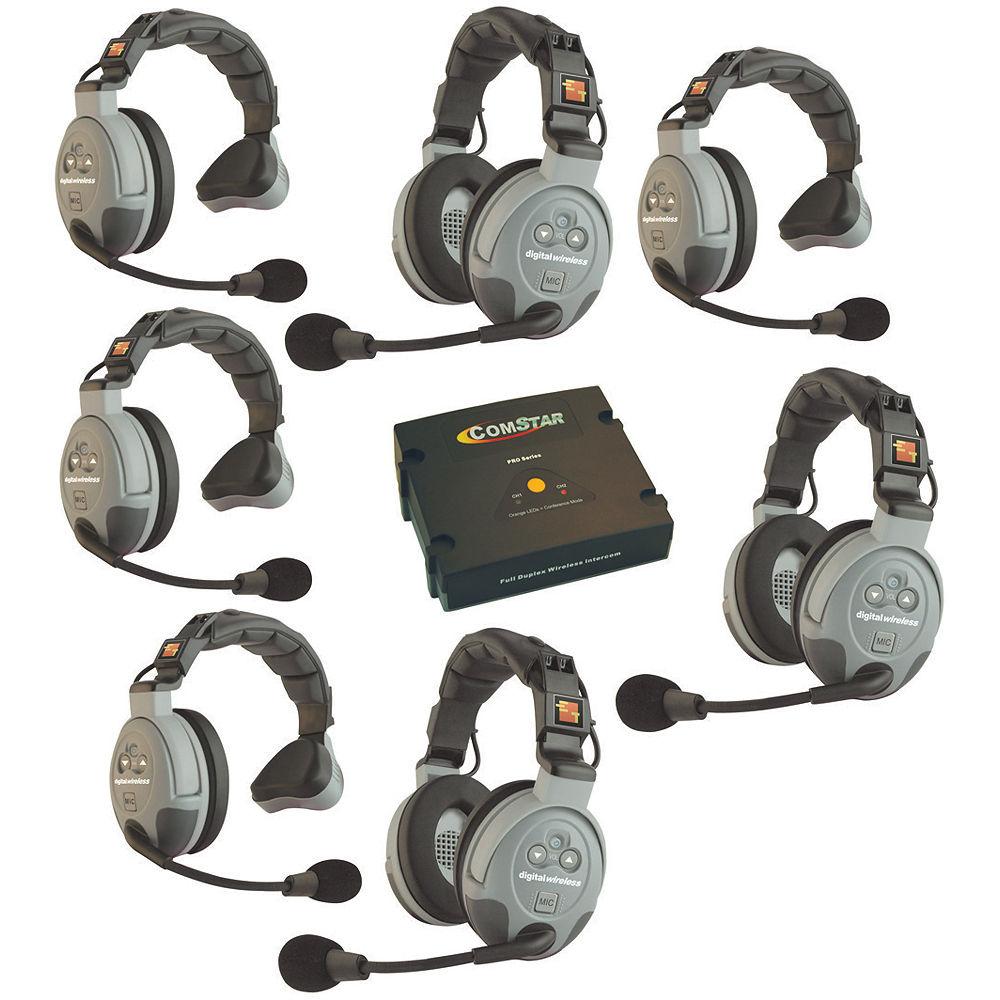 Eartec Comstar Xt 7 7 User Full Duplex Wireless Intercom Xt 7