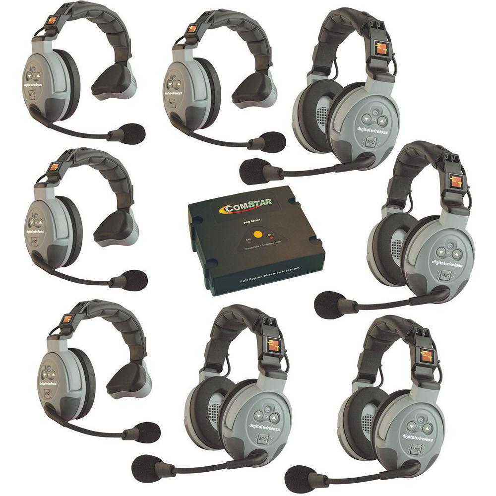 Eartec Comstar Xt 8 8 User Full Duplex Wireless Intercom Xt 8