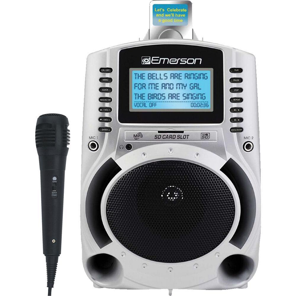 emerson karaoke portable karaoke mp3 lyric player sd511sc b h. Black Bedroom Furniture Sets. Home Design Ideas