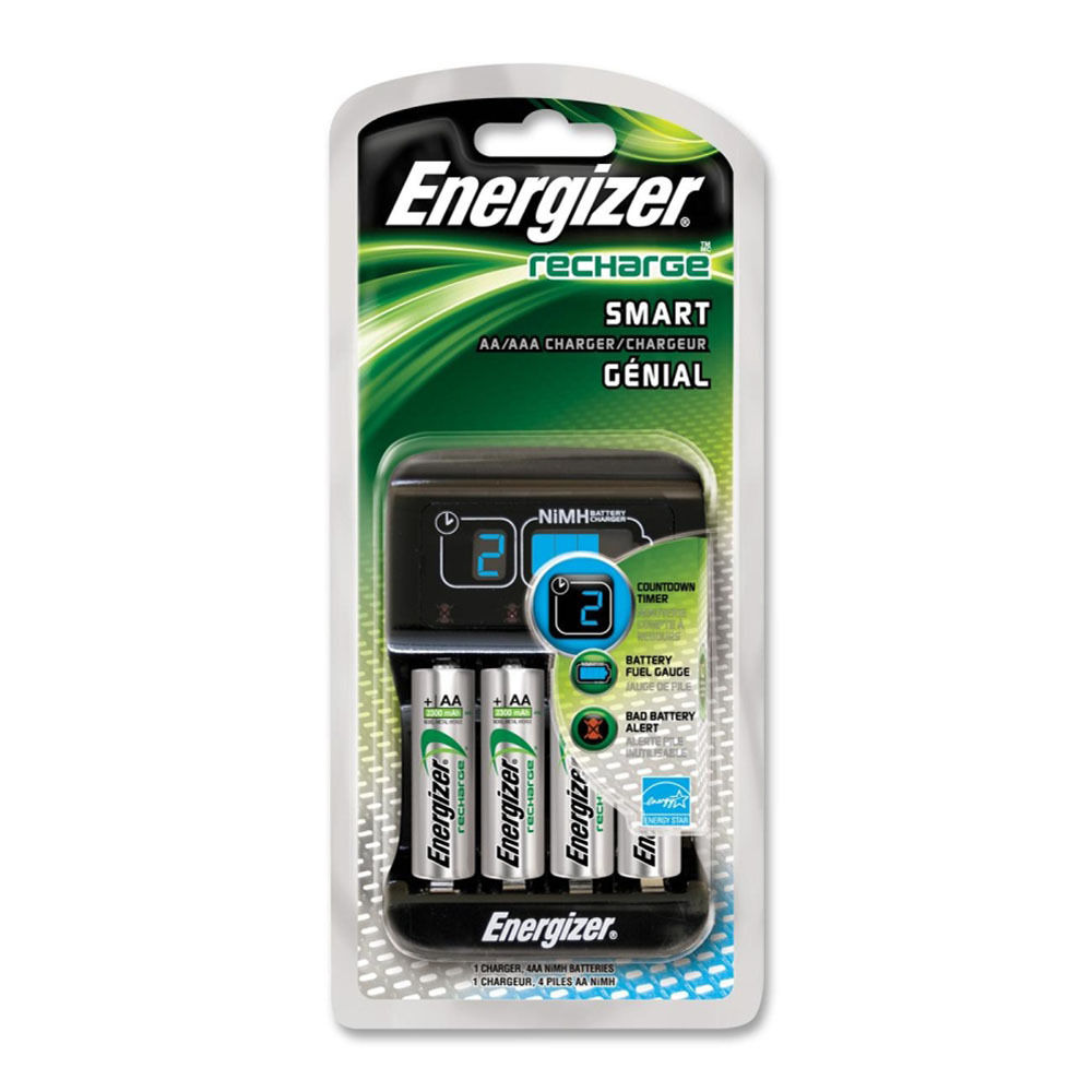 energizer recharge smart charger with 4 aa nimh batteries. Black Bedroom Furniture Sets. Home Design Ideas