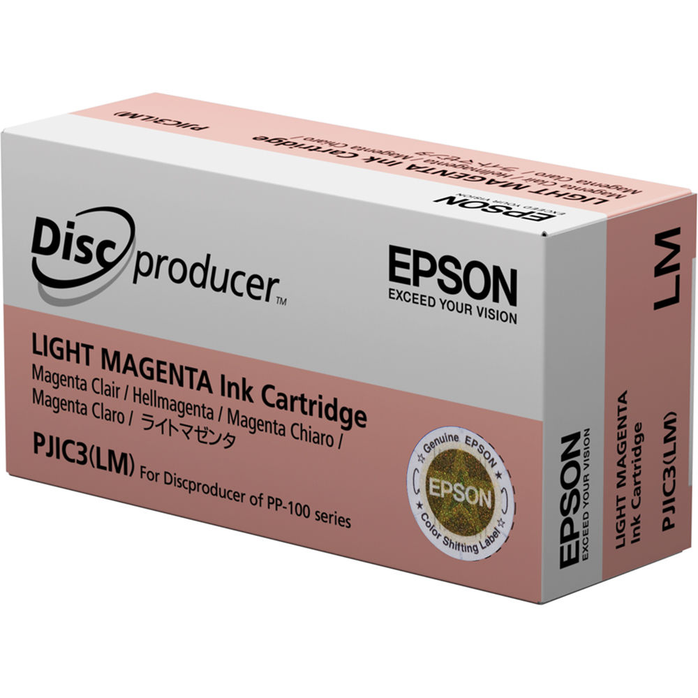 Epson PJIC3 LM Light Magenta Ink Cartridge PJIC3 LM BampH Photo