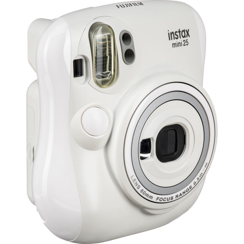Fujifilm instax mini 25 Instant Film Camera (White) 15953812 B&H