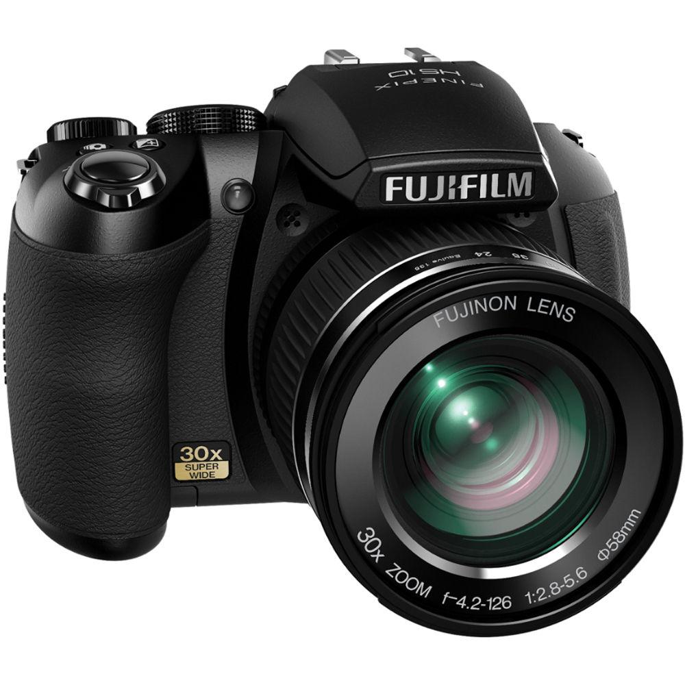 Fuji Digital Cameras: FUJIFILM HS10 10MP Digital Camera (Black) 16018645 B&H Photo