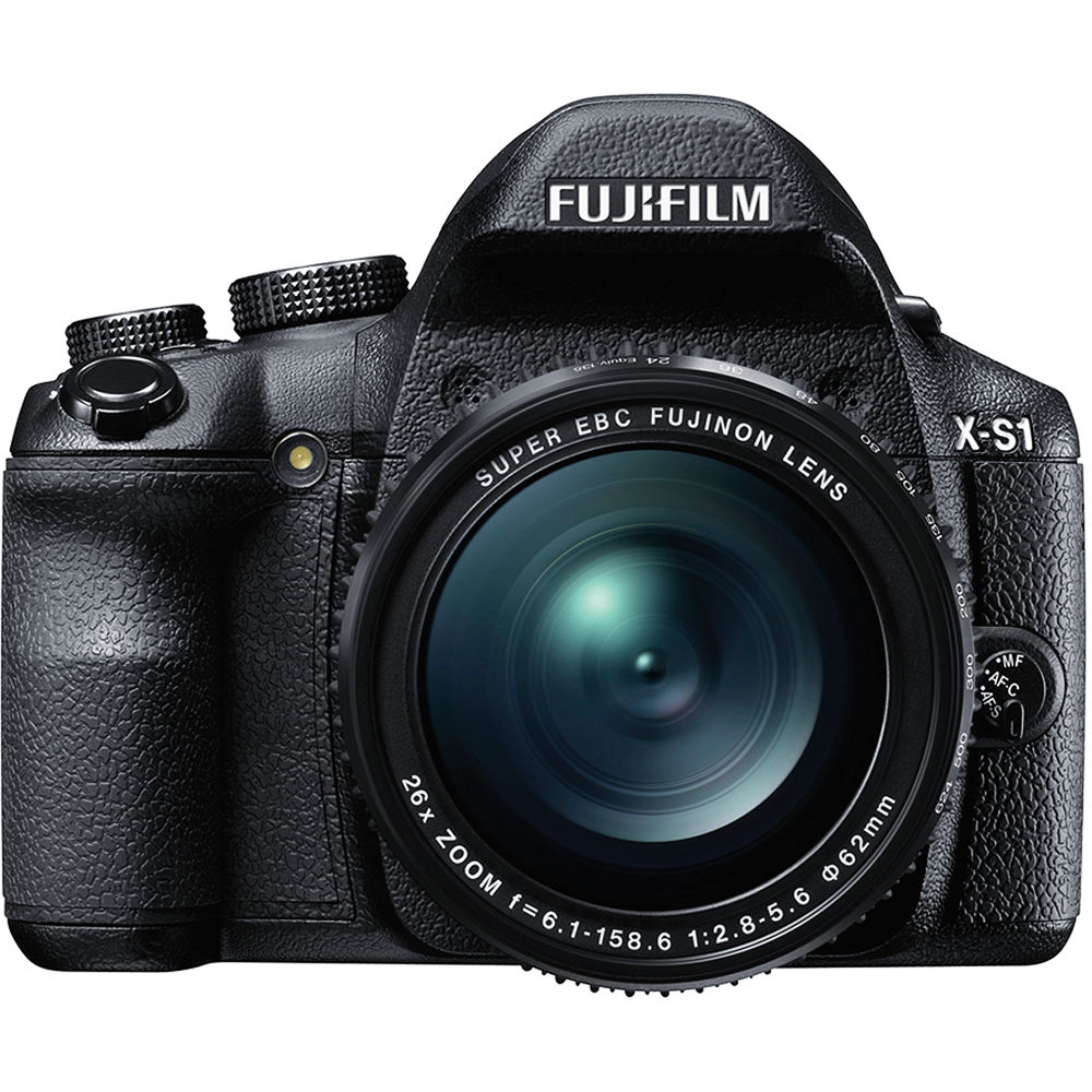 Fuji Digital Cameras: FUJIFILM X-S1 Digital Camera (Black) 16199188 B&H Photo Video