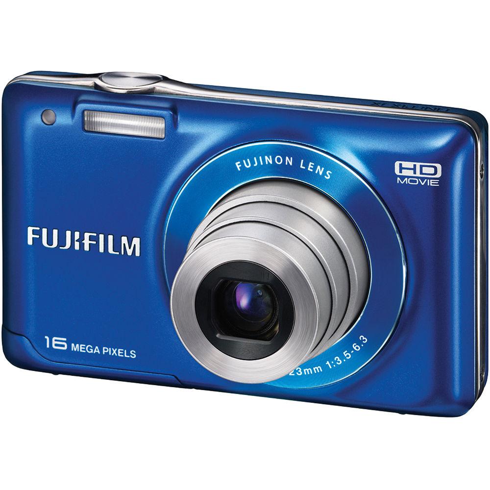 Fuji Digital Cameras: FUJIFILM FinePix JX580 Digital Camera (Blue) 16215255 B&H