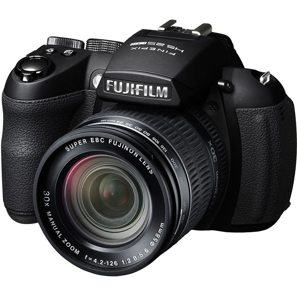 Fuji Digital Cameras: FUJIFILM FinePix HS25EXR Digital Camera (Black) 16243252 B&H