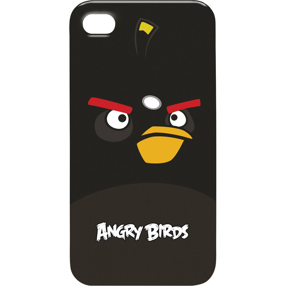 gear4 angry birds bomb bird for iphone case icab404us b h photo. Black Bedroom Furniture Sets. Home Design Ideas