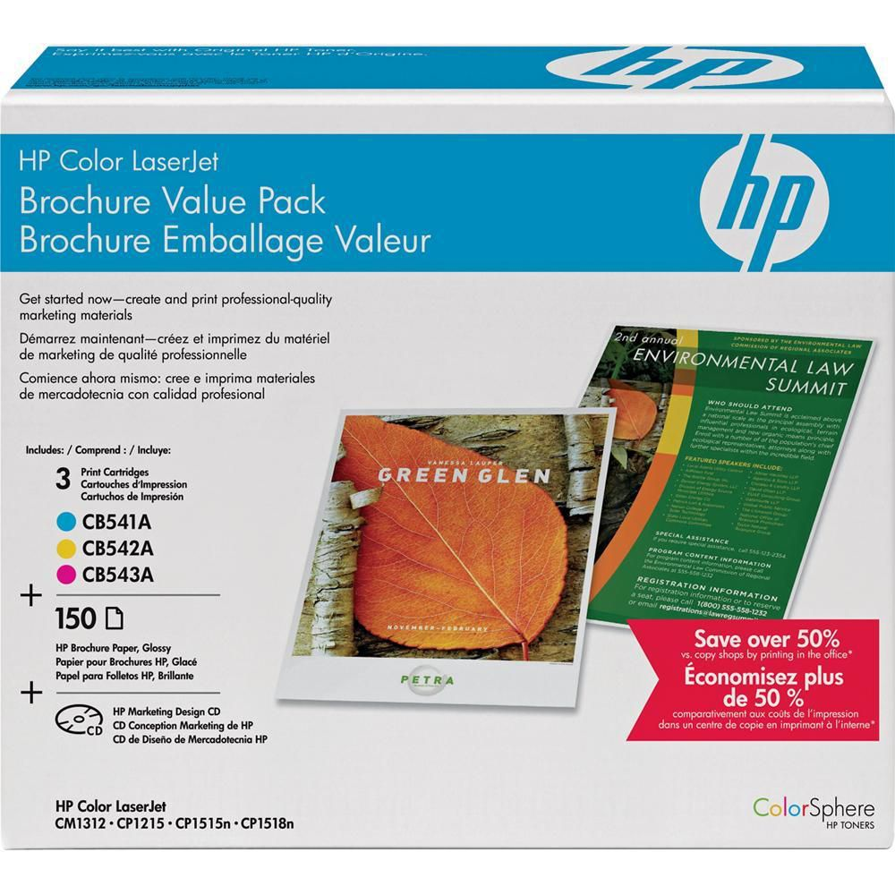 Hp ce256a color laserjet brochure value pack 8 5 x ce256a b h for Hp brochure template