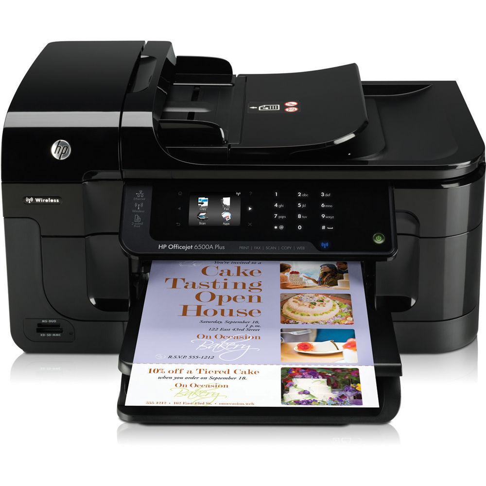HP Officejet 6500A Plus E-All-in-One Wireless Inkjet