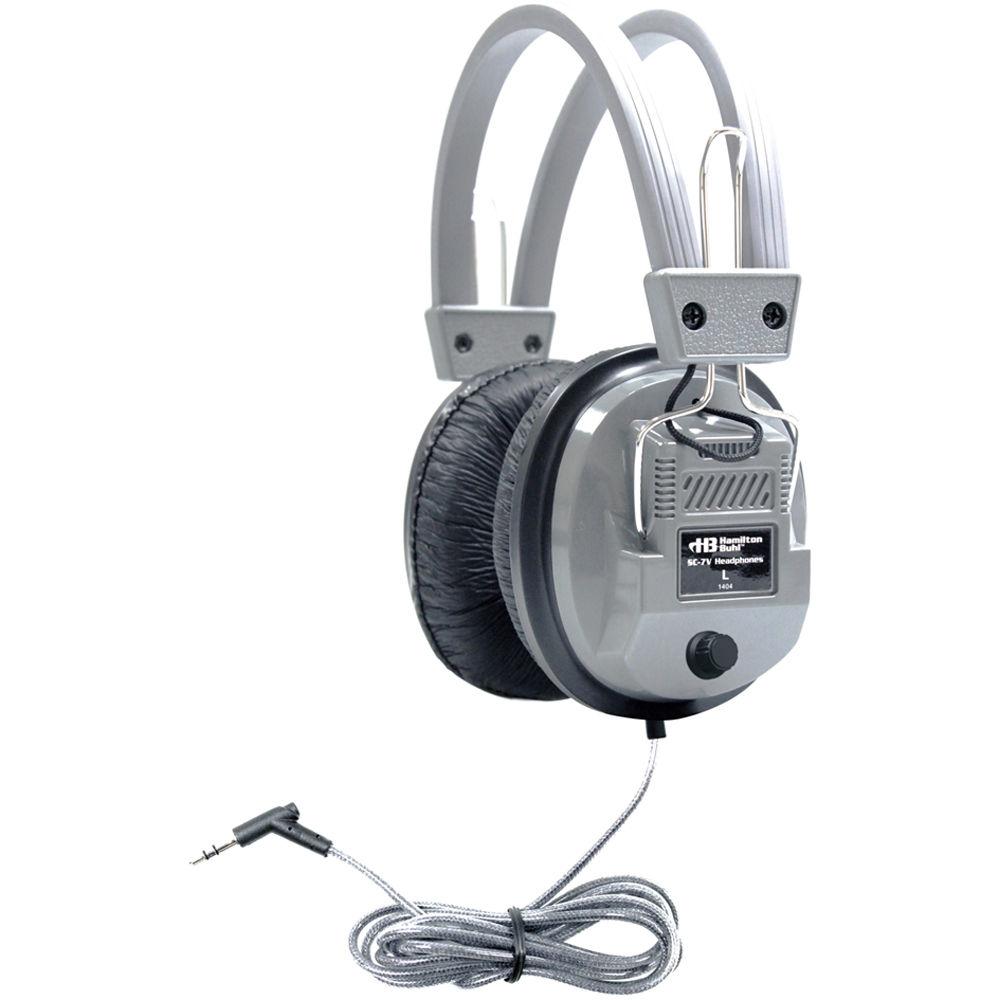 HamiltonBuhl SC-7V - Over-Ear Stereo Headphones with Volume Control