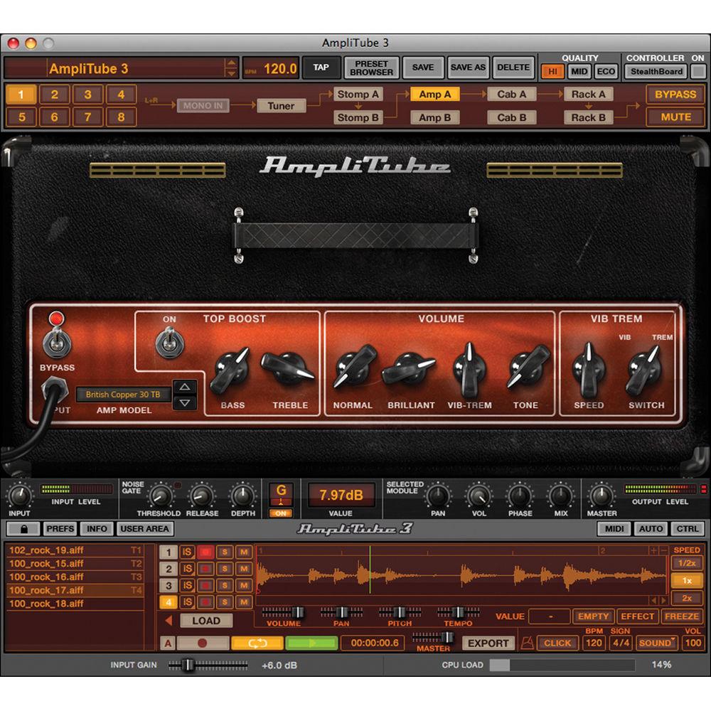 ik multimedia amplitube 3 guitar and bass amp at 300 hcd in b h. Black Bedroom Furniture Sets. Home Design Ideas