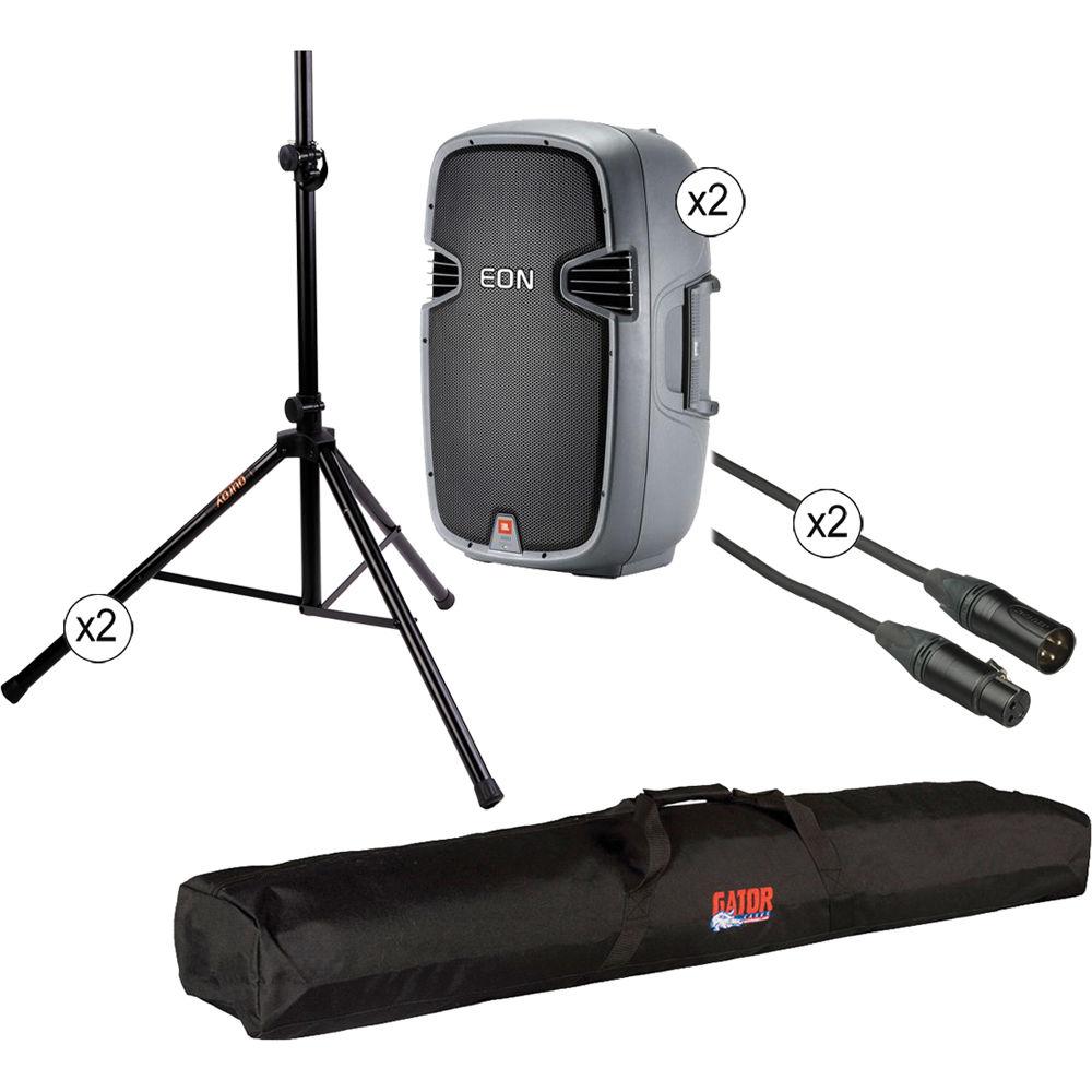 jbl eon 315 bi amplified 15 speaker system kit b h photo. Black Bedroom Furniture Sets. Home Design Ideas